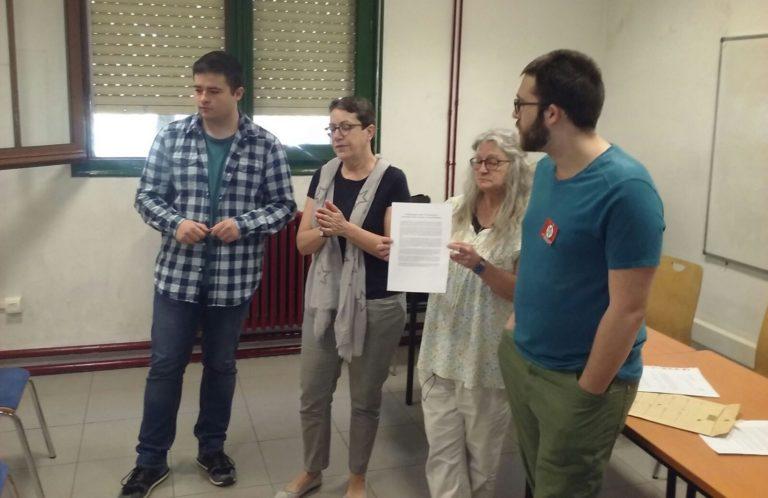 La comunidad universitaria de Zaragoza unida por la educación laica