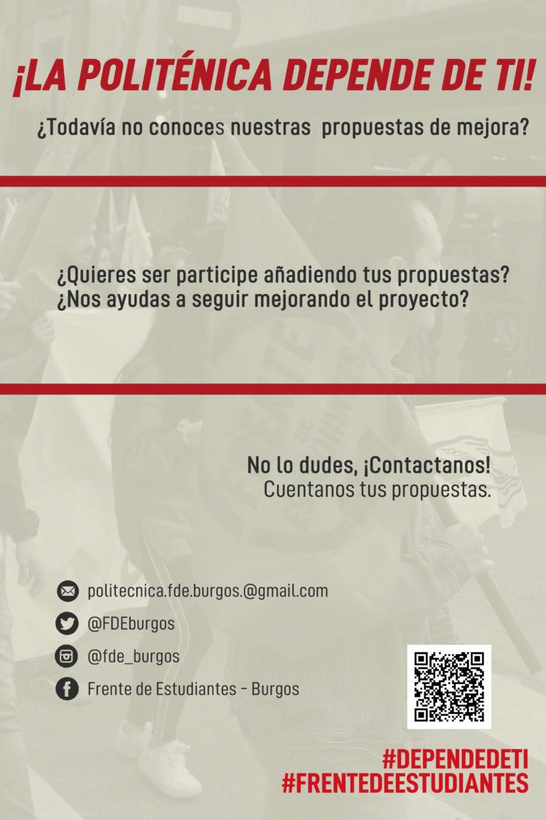 ¡La politécnica de Burgos depende de ti!