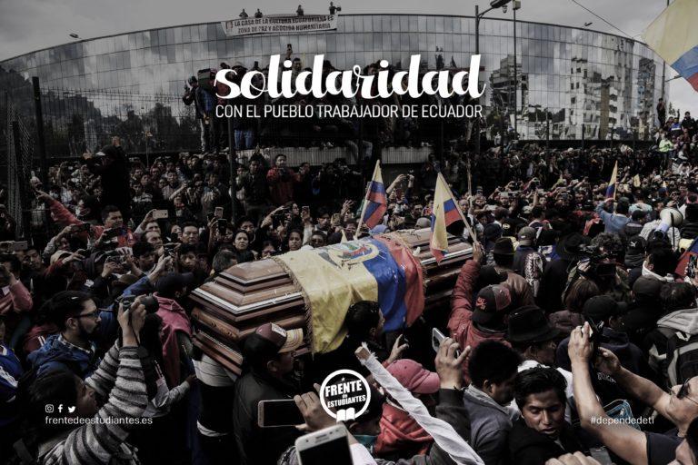 Solidaridad con el pueblo trabajador de Ecuador