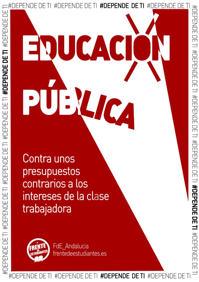 Los presupuestos de Andalucía 2020 no responden a nuestra realidad en las aulas