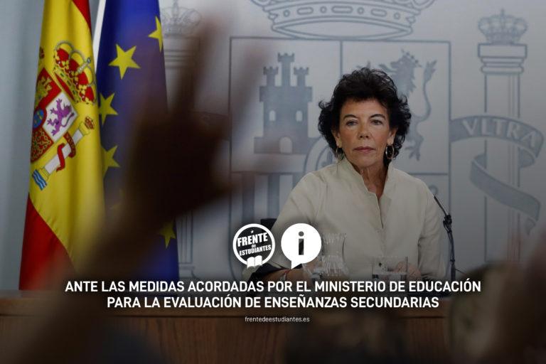 Sobre el cierre de curso y las medidas adoptadas por el Ministerio de Educación