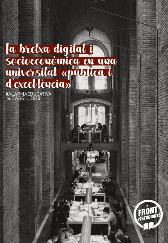Bretxa digital i socioeconòmica a la UPF i el COVID-19