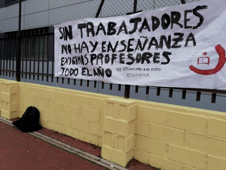 Ante el despido de 1117 profesores por parte del gobierno de la Comunidad de Madrid